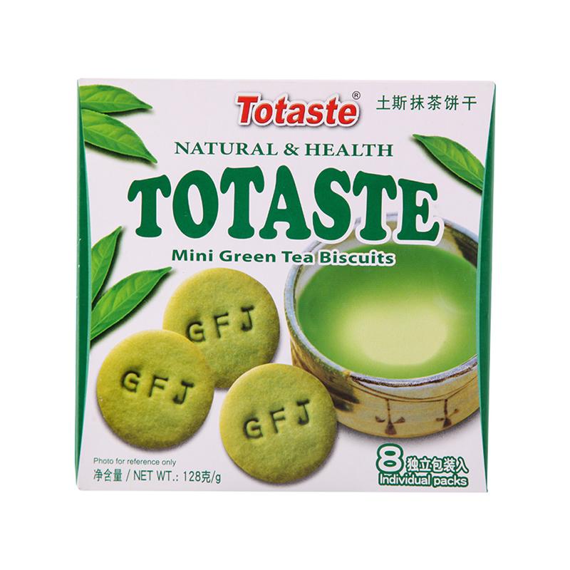 土斯 抹茶饼干 128g