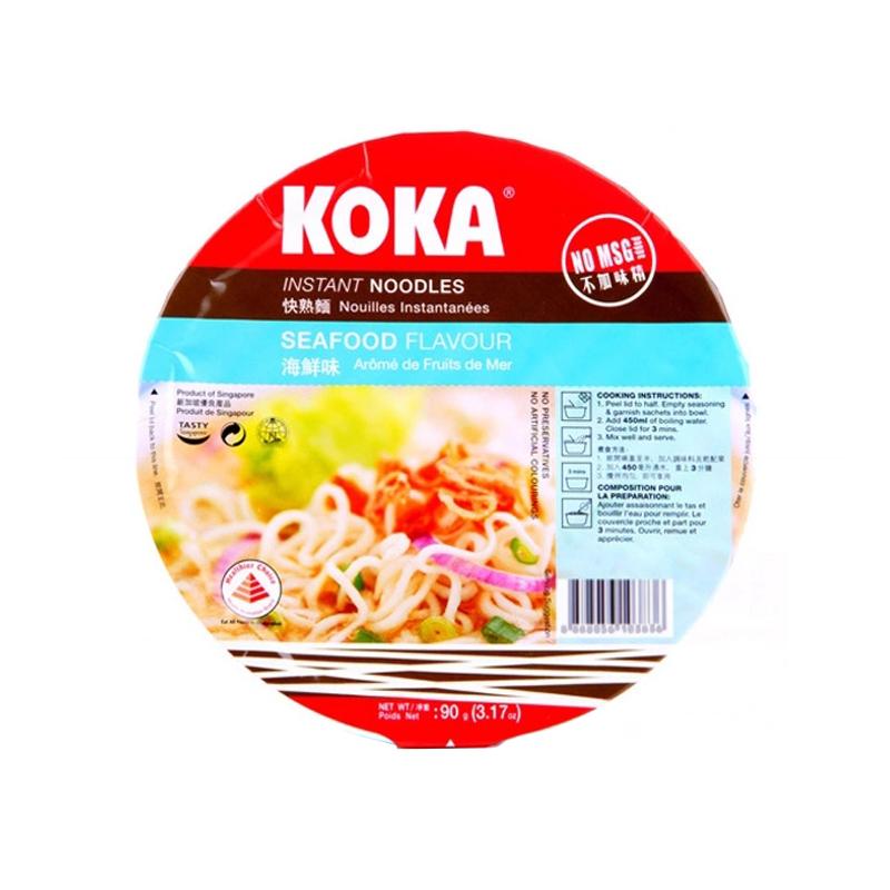 KOKA可口 碗装快熟面 海鲜汤...