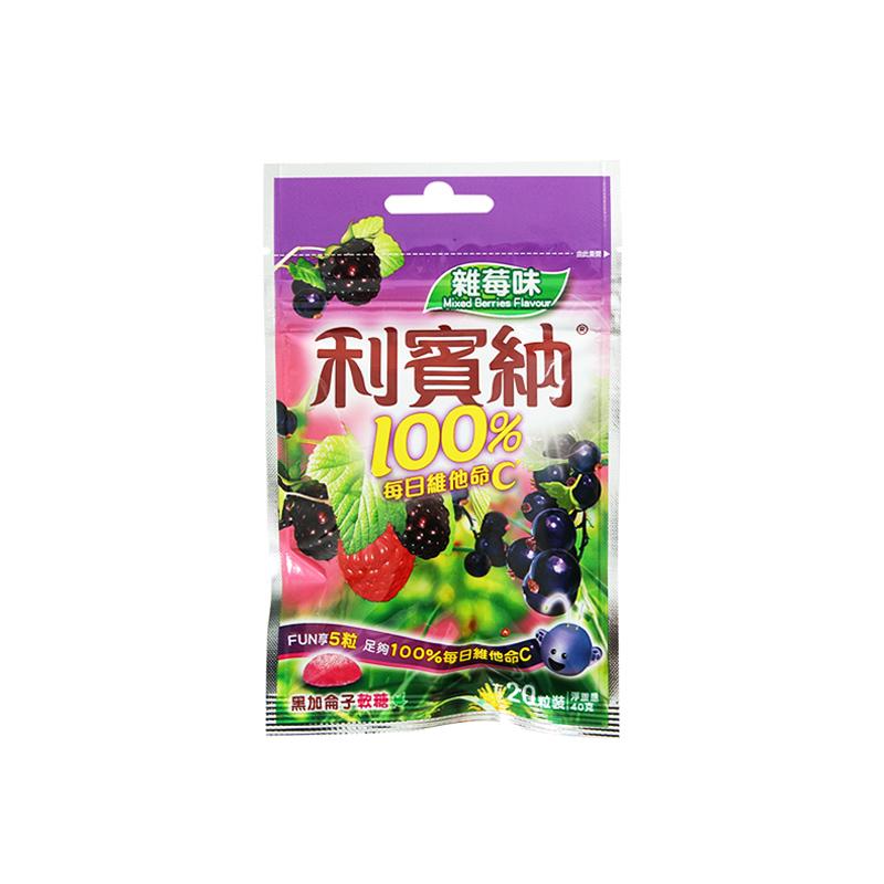 利宾纳黑加仑什锦莓味软糖40G