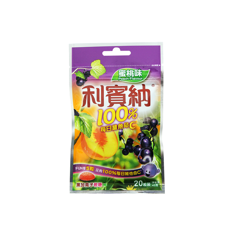 利宾纳黑加仑水蜜桃味软糖40G
