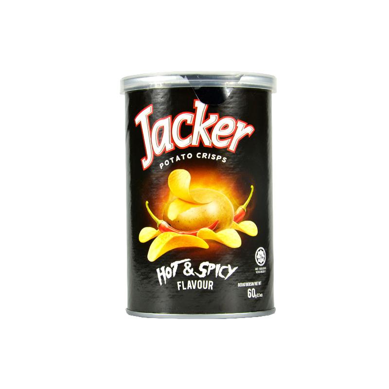 Jacker杰克 罐装薯片香辣味...