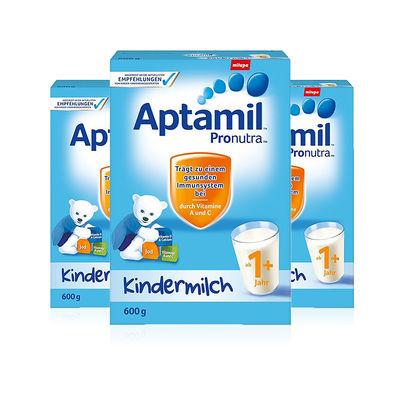 【3盒装】德国 Aptamil 爱他美 奶粉1+ 4段 1岁起600g