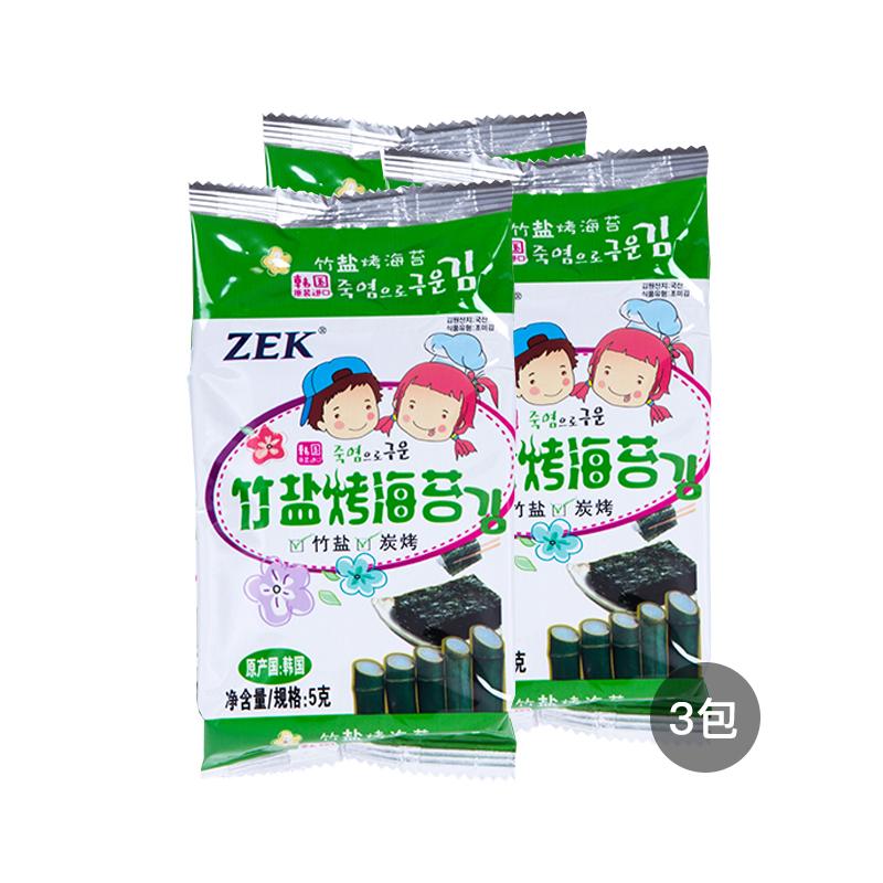 【3包装】ZEK 竹盐烤海苔 5...
