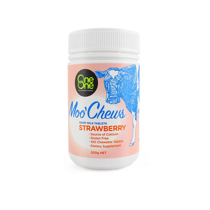 OneOne奥尼 草莓味乳钙奶片...