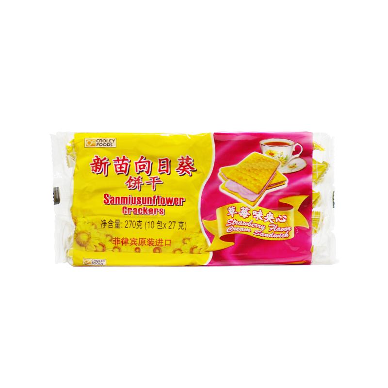 新苗 向日葵饼干草莓味 270g