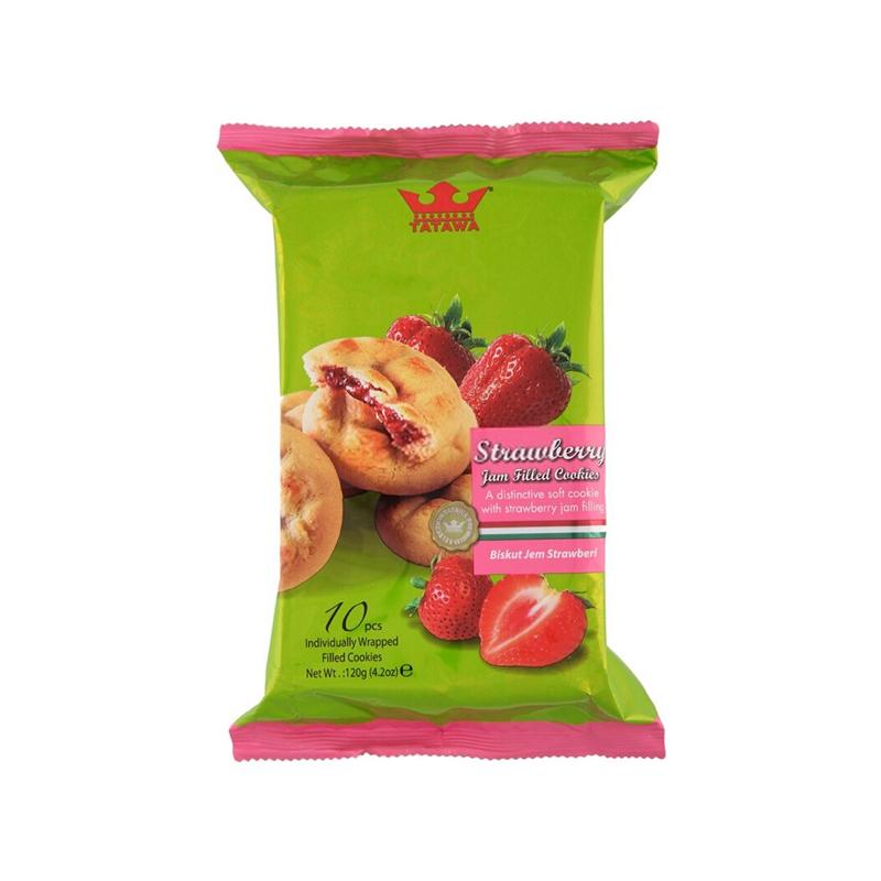 TATAWA 草莓果酱 软馅曲奇饼干 120g