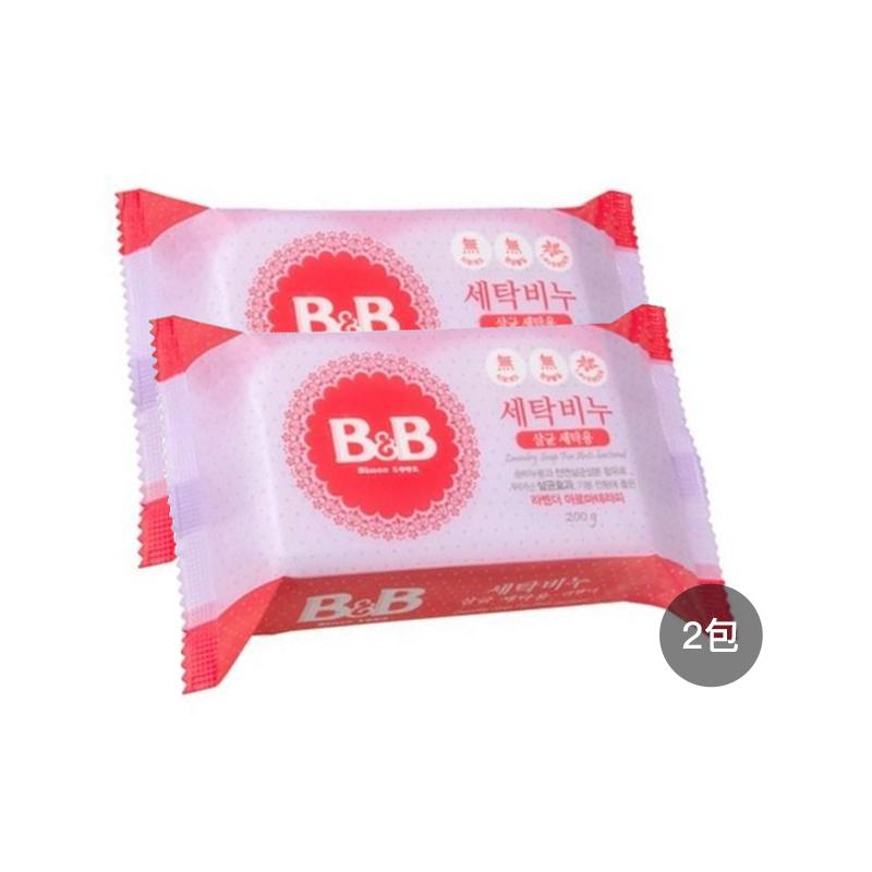 【2块装】保宁B&B婴幼儿洗衣皂(薰衣草味) 200g*2块 韩国进口