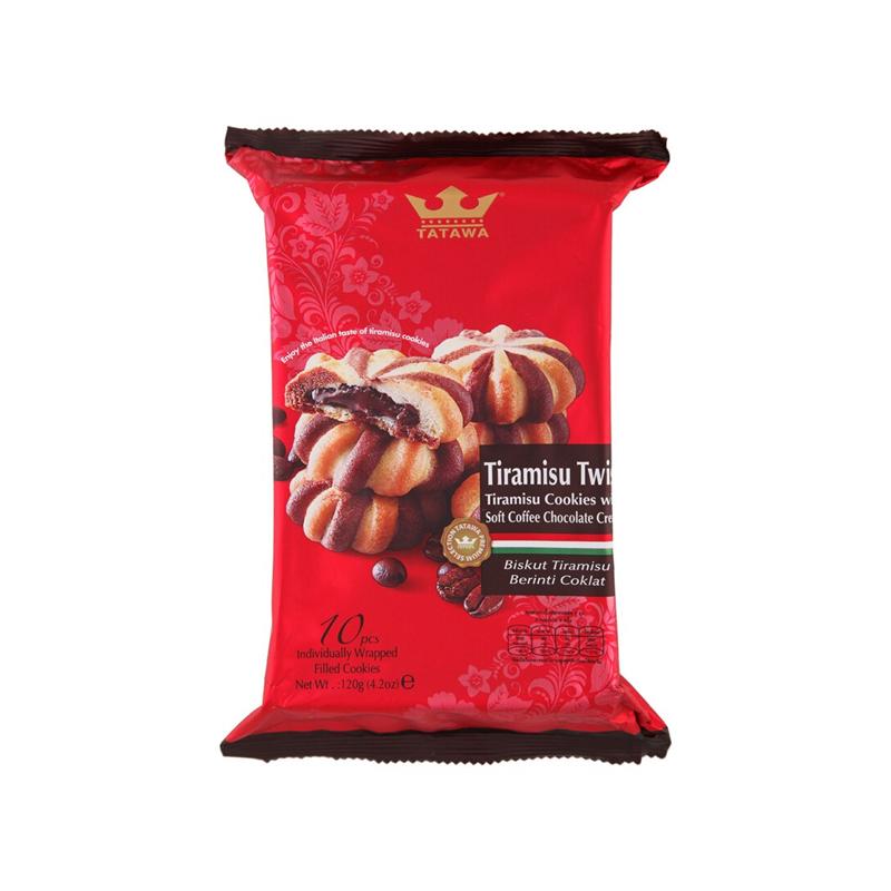 TATAWA 提拉米苏巧克力软馅曲奇饼干 120g